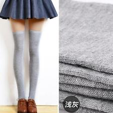 Women Sexy Solid Color Thigh High Over The Knee Socks Long Cotton Stockings