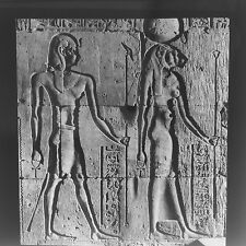 Magic Lantern Slide Vintage Ancient Egyptian Wall Carvings Images History Life