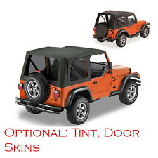 Jeep Wrangler TJ Soft Top 1997-2002 Black/ Sprice Replacment with Tinted windows