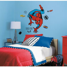 "CLASSIC AMAZING SPIDERMAN wall stickers MURAL 24 decal Marvel 38"" tall superhero"