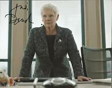 Hand Signed 8x10 colour photo DAME JUDI DENCH as M in SKYFALL - JAMES BOND
