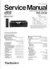 Technics Service Manual für RS-DC 8