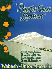 PRINT POSTER TRAVEL TRAIN RAIL ADVERT FRUIT TREE MOUNTAIN SCENIC USA NOFL1383