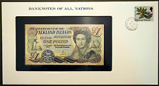 Falkland Islands - 1 Pound - 1984 Uncirculated Banknote in stamped envelope.