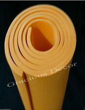 "Indoor Outdoor Exercise Yoga Mat Pilates Pad Mat 70""23""10mm Thick NonSlip ORANGE"