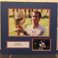 Signed Andy Murray Mounted Wimbledon Champion 2013 Photo Tennis