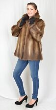 US912 Beautiful  soft Muskrat Fur Jacket Coat Musquash no mink Pelzjacke ca. XL