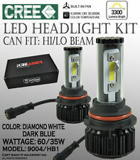 JDM 9004 HB1 6000K 30000K CANBUS CREE COB LED KIT HI/LO BEAM Dual White/ Blue