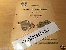 VW 1500 - Solex-Flachstrom-Vergaser Typ 32 PHN - Ersatzteileliste