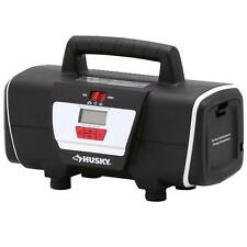 Husky 12-Volt/120-Volt Tire Inflator Portable Electric Air Compressor