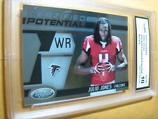 JULIO JONES FALCONS  2011 CERTIFIED POTENTIAL ROOKIE RC # 20   916/999 GRADED 10