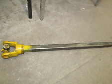 23 1/2 PTO Implement Drive Line Shaft 1 1/8 X 1 1/8 with 35 Cross with Bearing