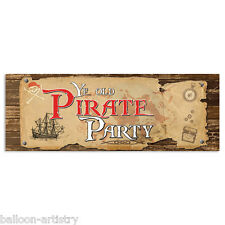56cm Pirates YE OLD PIRATE PARTY Plastic PVC Sign Banner Decoration