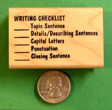 Writing Checklist - Teacher's Writing Rubber Stamp