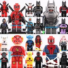 20pcs SET Deadpool Batman Spider-man The Flash Custom Lego MiniFigure