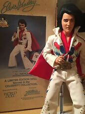 "ELVIS PRESLEY LTD ALL AMERICAN  `84 WORLD DOLL "" 21""  VINYL DOLL-ROOTED HAIR"
