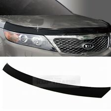 San Black Front Hood Guard Bug Shield Molding for KIA 2010 - 2014 Sorento R