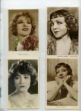Claudette colbert, betty Compson  collection 1930s movie star postcard  lot of 4