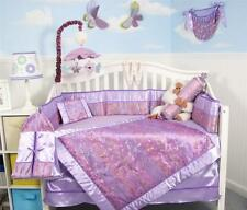 SoHo Lavender Butterfly Silky Baby Crib Bedding 13 pcs Set included Diaper Bag
