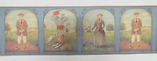 Wall Border.. Golf Game, Historic Man & Lady, 5 Y, Vinyl Wallpaper BNIB rd7533