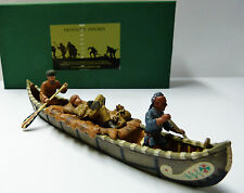 Frontline Figures, Maßstab 1/32 Indian Wars, Kanu Trapper / Indianer,Canoe, IWC6