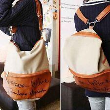 Damen Leder Rucksack Tasche Schultertasche Schulrucksack Backpack Mode Vintage