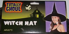 TOTALLY GHOUL BLACK WITCH HAT HALLOWEEN COSTUME ACCESSORY ADULT SIZE OSFM NEW!