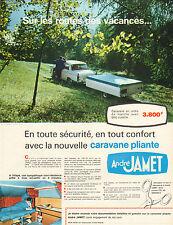 Publicité Advertising 1968  André JAMET camping tente caravane pliante vacances