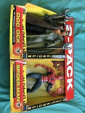 "2004 ToyBiz Spider-Man 2 Doc Ock & Spider Man 12"" Action Figure Rare 2-Pack MISP"