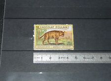 VIGNETTE CHOCOLAT POULAIN 1932 FRANCE CARNASSIERS & ANIMAUX SAUVAGES HYENE