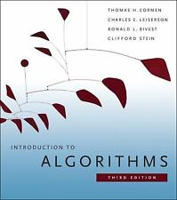 Introduction to Algorithms by Clifford Stein, Ronald L. Rivest, Thomas H. Cor...