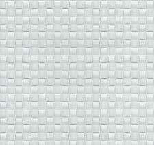 Modern White and Silver Weave Tile Wallpaper Mosaic Paste the Wall 02468-10