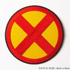 "THE X-MEN - Classic 3.5"" Comic Style Quality Iron-On Embroidered Patch FULL SIZE"