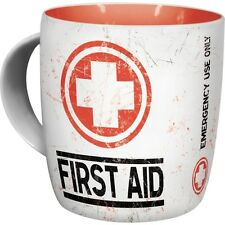 """FIRST AID"" Vintage KAFFEE Becher 50s Tasse / MUG Rockabilly"