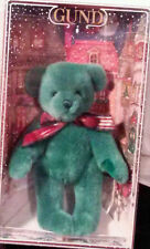 Gund Christmas Collectible Plush Bear 1995 Green jointed snowflake