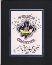 FRENCH QUARTER FLEUR DE LIS, Jamie Hayes, SIGNED SAINTS GO MARCHING IN