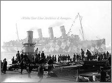 Photo: Mauretania Troopship Returns To NY, Dazzle Paint, WWI, 1918