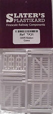 Slaters 7A31 GWR Station Gates 3 x 31mm x 30mm White Plastic Kit 0 Gauge 1stPost