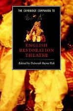 The Cambridge Companion to English Restoration Theatre (Cambridge Companions to
