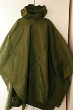 BRITISH ARMY ISSUE OLIVE GREEN WATERPROOF NYLON PONCHO SUPERGRADE