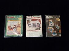 3 Christmas Cross Stitch Kits Bucilla Dimensions Lot Bulk NOS