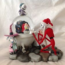RARE Disney Nightmare Before Christmas SANTA JACK Musical SnowGlobe-MIB
