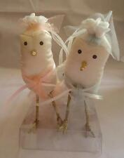 Silvestri Ann Wood Enchanted Evening Bird 2 Bridesmaids Cake Topper Ornaments