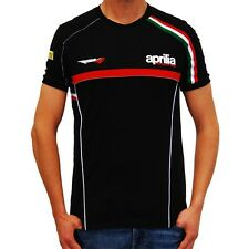 "New Aprilia Racing Team T-Shirt Black, Small 34"" Chest (UK XSMALL) - OFFICIAL"