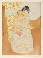Mary Cassatt Reproductions: Maternal Caress, c.1891 - Fine Art Print