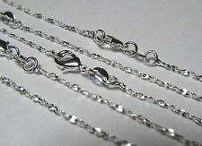 "Wholesale 10 Pcs 20"" Silver Plated Twisted Serpentine Chain Necklace Lot"