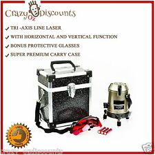 LASER LEVELING SELF LEVEL LINE CROSS ROTARY ROTATING TRI AXIS BEAM LEVELER TRIPO