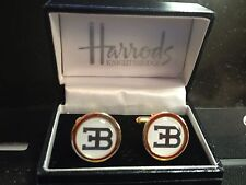 BUGATTI  HIGH QUALITY GOLD PLATED CUFFLINKS IN DISPLAY CASE