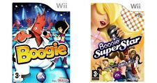 Boogie e Boogie Superstar = 2 in 1 = NINTENDO WII = MICROFONO = SUPER STAR = U = DANCE
