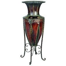 Tuscan Old World Metal Planter Vase With Stand New
